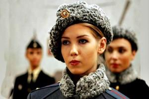Russian Army Women Soldier