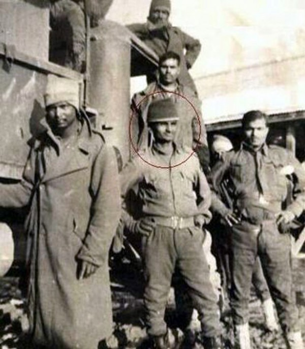 Anna Hazare as an Army man