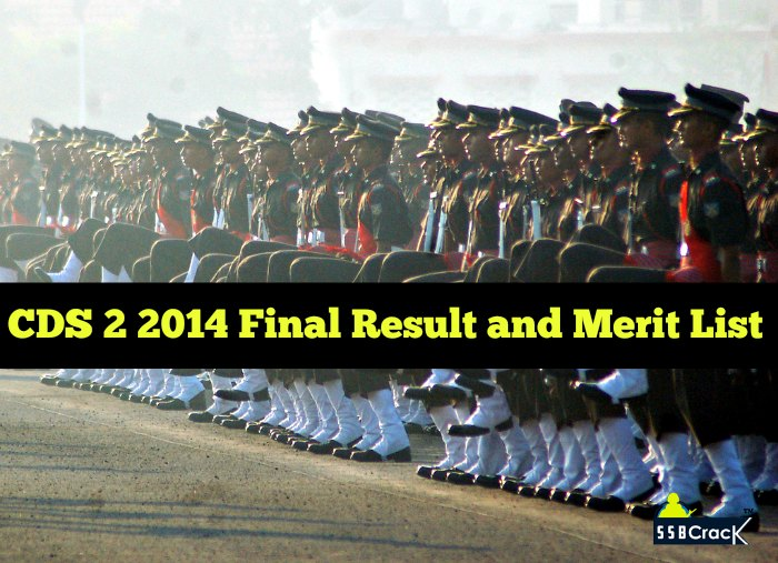 CDS 2 2014 Final Result and Merit List