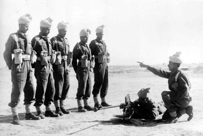 Soldiers from the Jat Regiment - one of the longest serving and most decorated infantry regiments of the Indian Army - practice on an Anti-Tank Rifle.