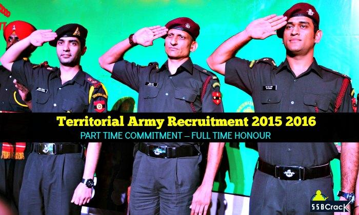 territorial army recruitment 2015 2016 ssbcrack