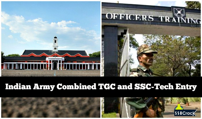Indian Army Combined TGC and SSC-Tech Entry