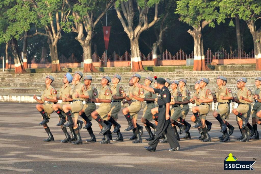 NDA Cadet drill training