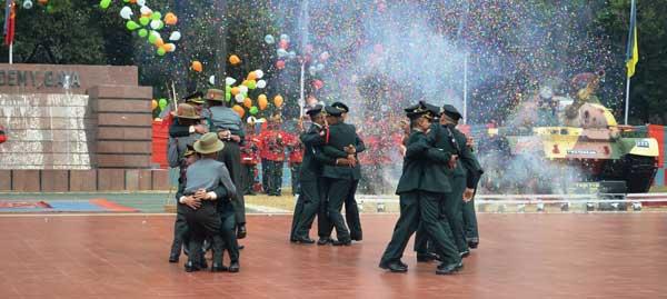 OTA gaya cadets celebrating