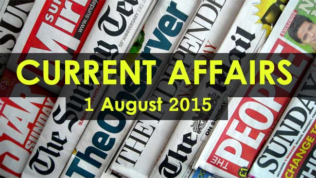 1-August-2015-Current-Affairs