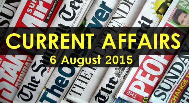 6-August-2015-Current-Affairs