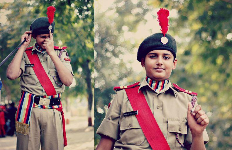 A NCC Cadet