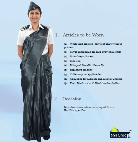 Dress No 10A Summer Mess Dress for Lady Officers (Pre & Post Natal)