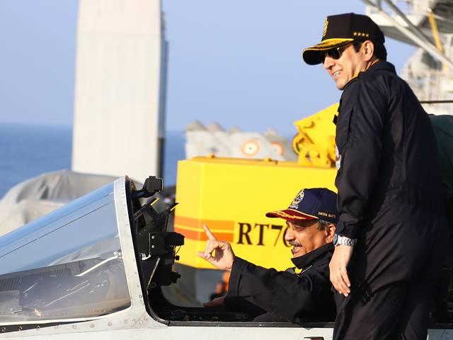 Manohar Parrikar with Navy