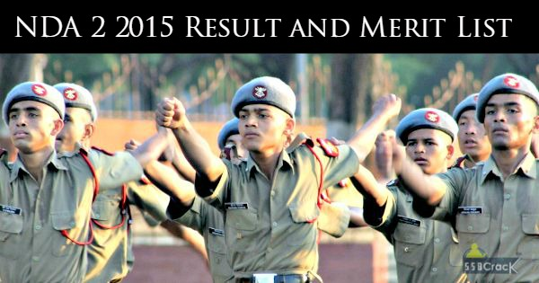 NDA 2 2015 Result and Merit List
