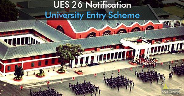 UES 26 Notification University Entry Scheme