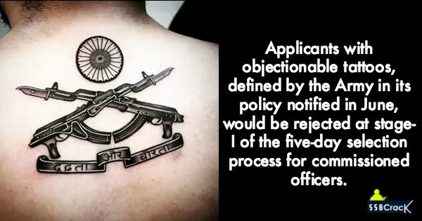 Army Says No To 'Offensive Tattoo' While Hiring Officers