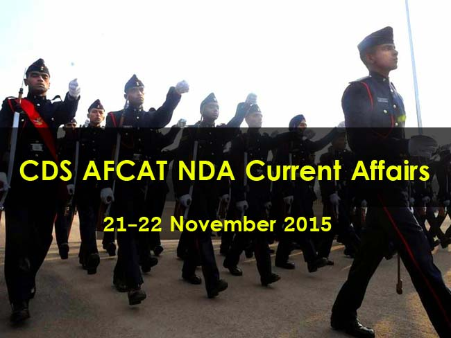 Current Affair 21-22 November 2015