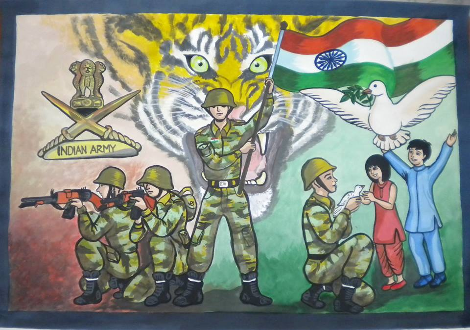 15 Indian Army Paintings By Kids Will Motivate You To Join Indian Army