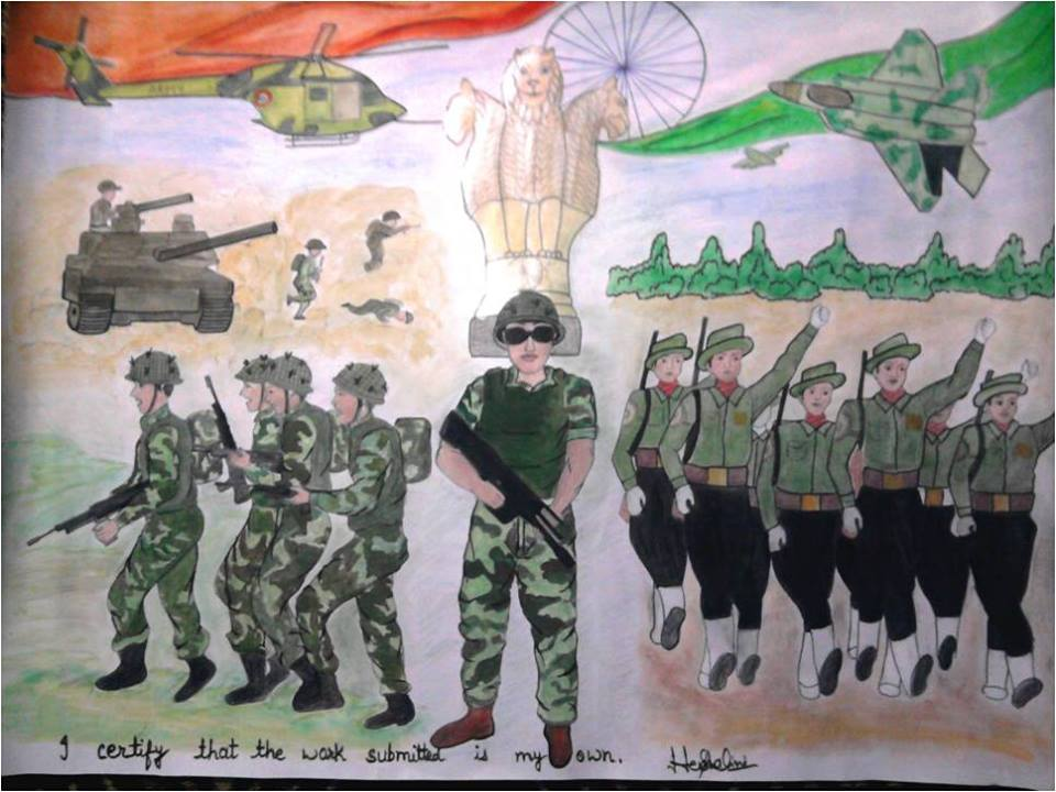15 Indian Army Paintings By Kids Will Motivate You To Join