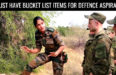 8 Must Have Bucket List Items for Defence Aspirants in 2018
