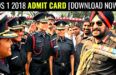 CDS 1 2018 Admit Card [Download Now]