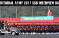 TERRITORIAL ARMY 2017 SSB INTERVIEW DATES